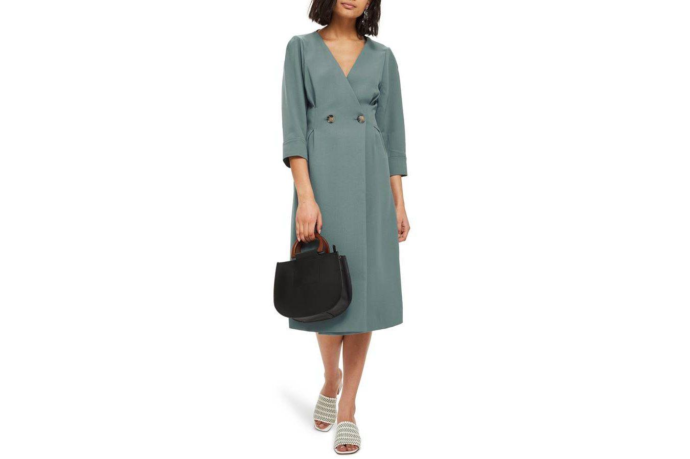 Topshop Wrap Midi Dress