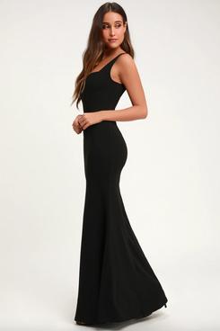 Lulus Sweetest Thing Black Maxi Dress