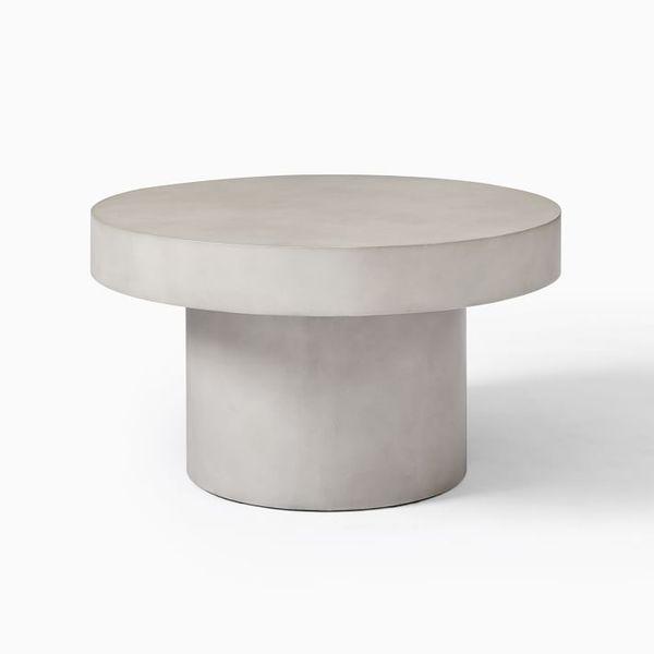 West Elm Volume Round Pedestal Coffee Table