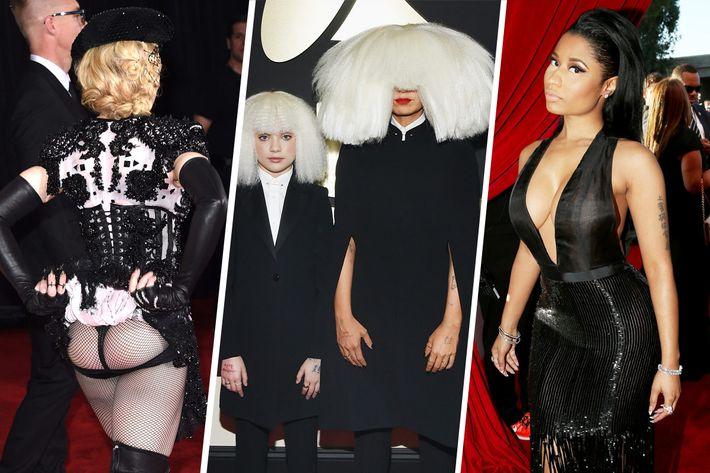 Madonna; Maddie Ziegler and Sia; Nicki Minaj.