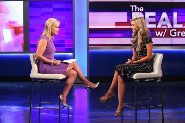 FOX News Anchor Gretchen Carlson Interviews Miss America 2015 Kira Kazantsev