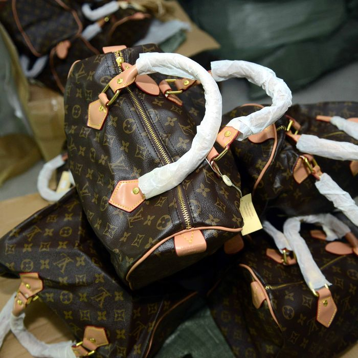 Confiscated Louis Vuitton fakes.