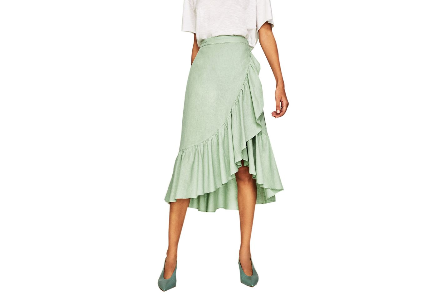 Zara Ruffled Wrap Skirt