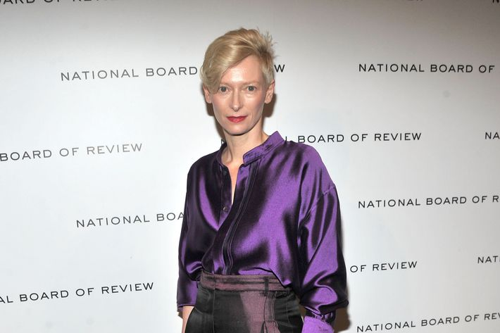 Tilda Swinton attends the 2011 National Board of Review Awards gala at Cipriani 42nd Street on January 10, 2012 in New York City.