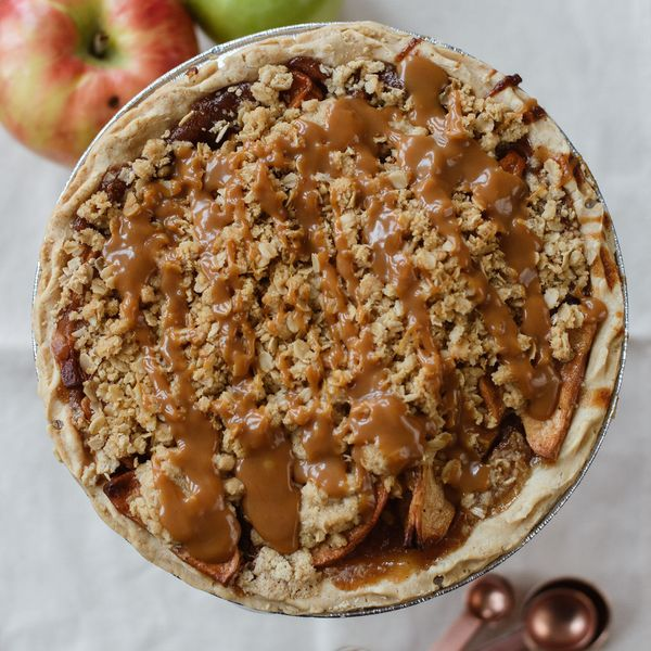 Justice of the Pies Caramel Apple Crumble Pie