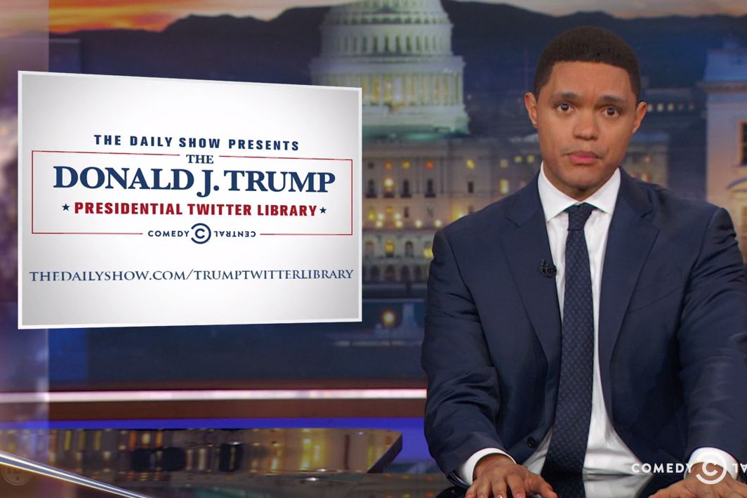 The Daily Show Opens Donald Trump Presidential Tweet Library