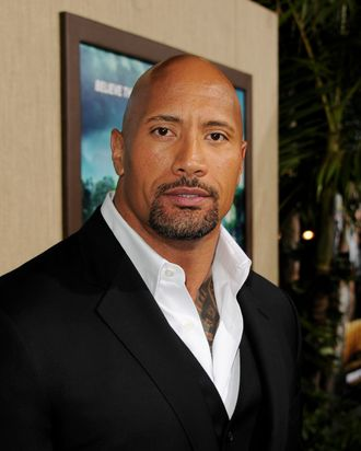 Actor Dwayne Johnson arrives at the premiere of Warner Bros. Pictures'