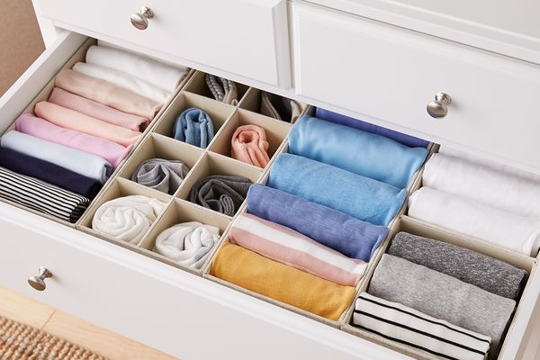 The Container Store Linen Drawer Organizers