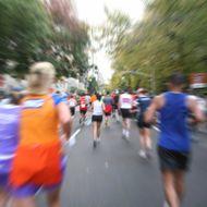 Marathon Runners In Motion