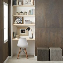 Birch & White Elfa Décor Office Nook