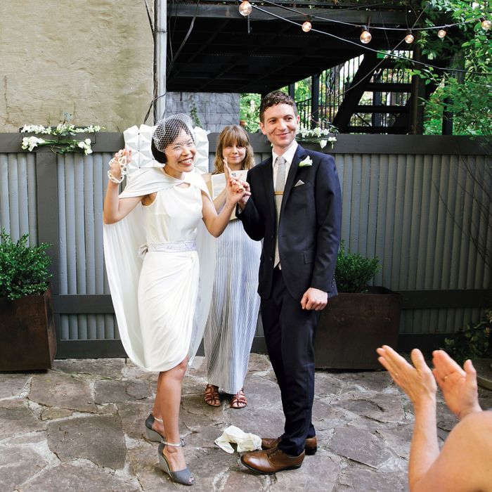 Celina Su and Justin Blinder married at iCi Restaurant in Brooklyn.