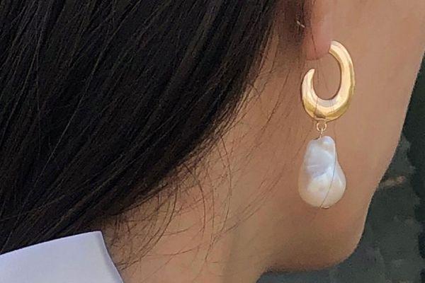 Young Frankk Felix Baroque Pearl Earrings