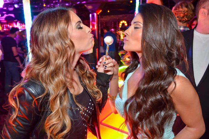 What happens in Vegas, like these two 'Bachelor' ladies air-kissing lollipops, no longer stays there.