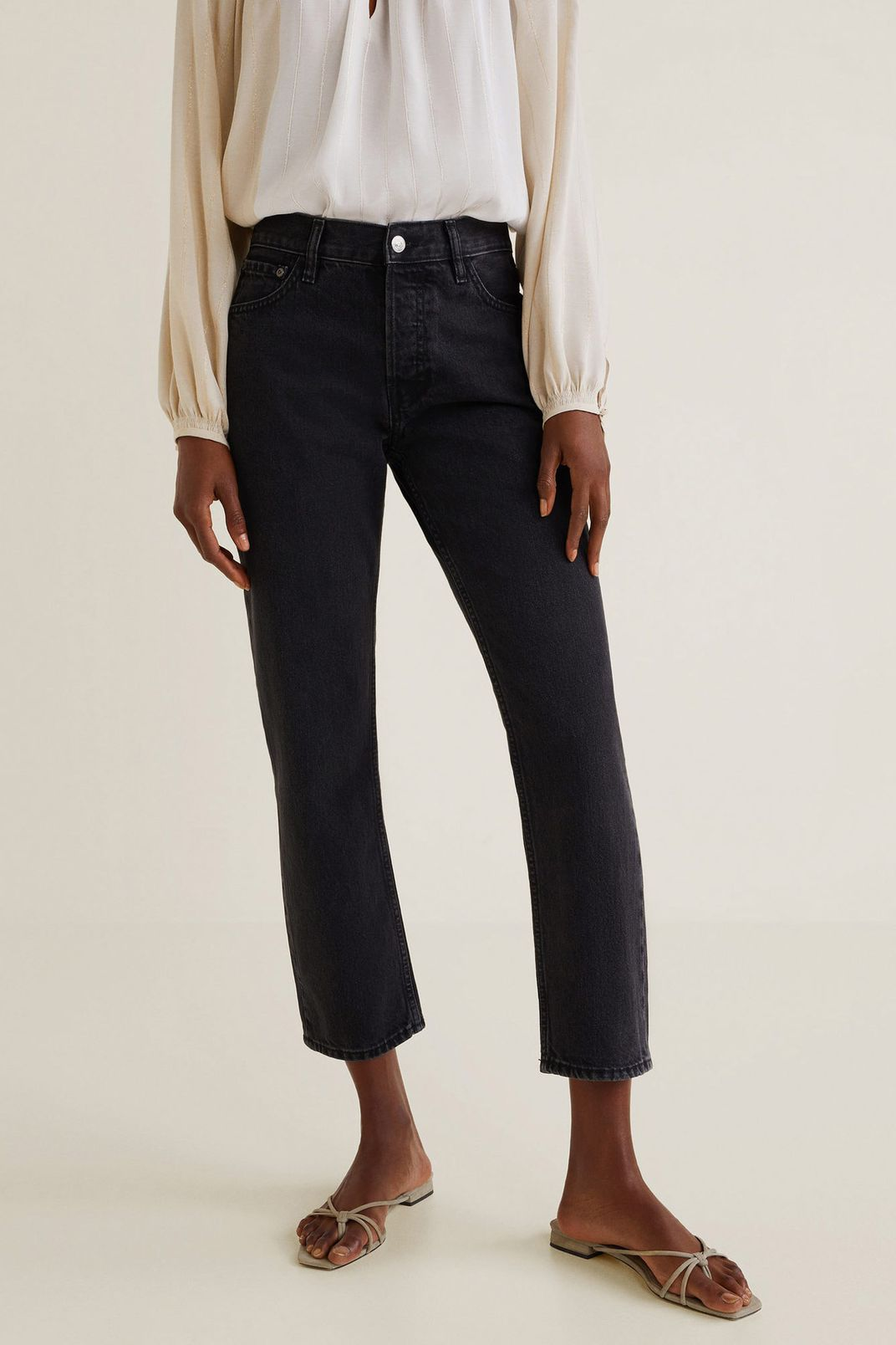 Mango Organic Cotton Straight Jeans