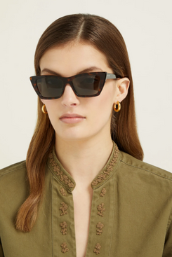 saint laurent tortoiseshell cat eye sunglasses - strategist fashion summer sale