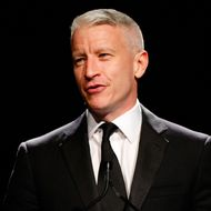 NEW YORK - JUNE 03:  Journalist Anderson Cooper on stage during the 34th Annual AWRT Gracie Awards Gala at The New York Marriott Marquis on June 3, 2009 in New York City.  (Photo by Jemal Countess/Getty Images for AWRT) *** Local Caption *** Anderson Cooper