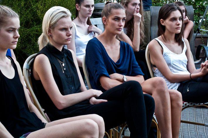 Models at IMG's Fashion Week Prep 2012.