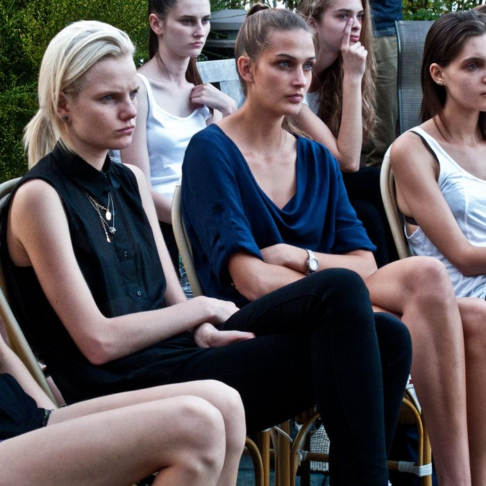 Models at IMG's Fashion Week Prep 2012.