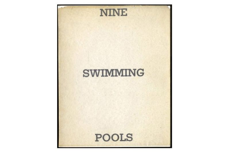Nine Swimming Pools (and a Broken Glass) by Edward Ruscha