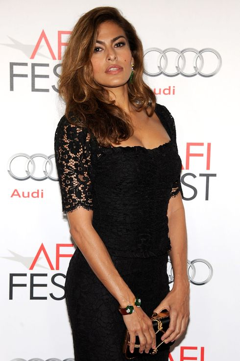 Actress Eva Mendes arrives at the 'Holy Motors' Special Screening during the 2012 AFI Fest presented by Audi at Grauman's Chinese Theatre in Hollywood, California, on November 3, 2012.
