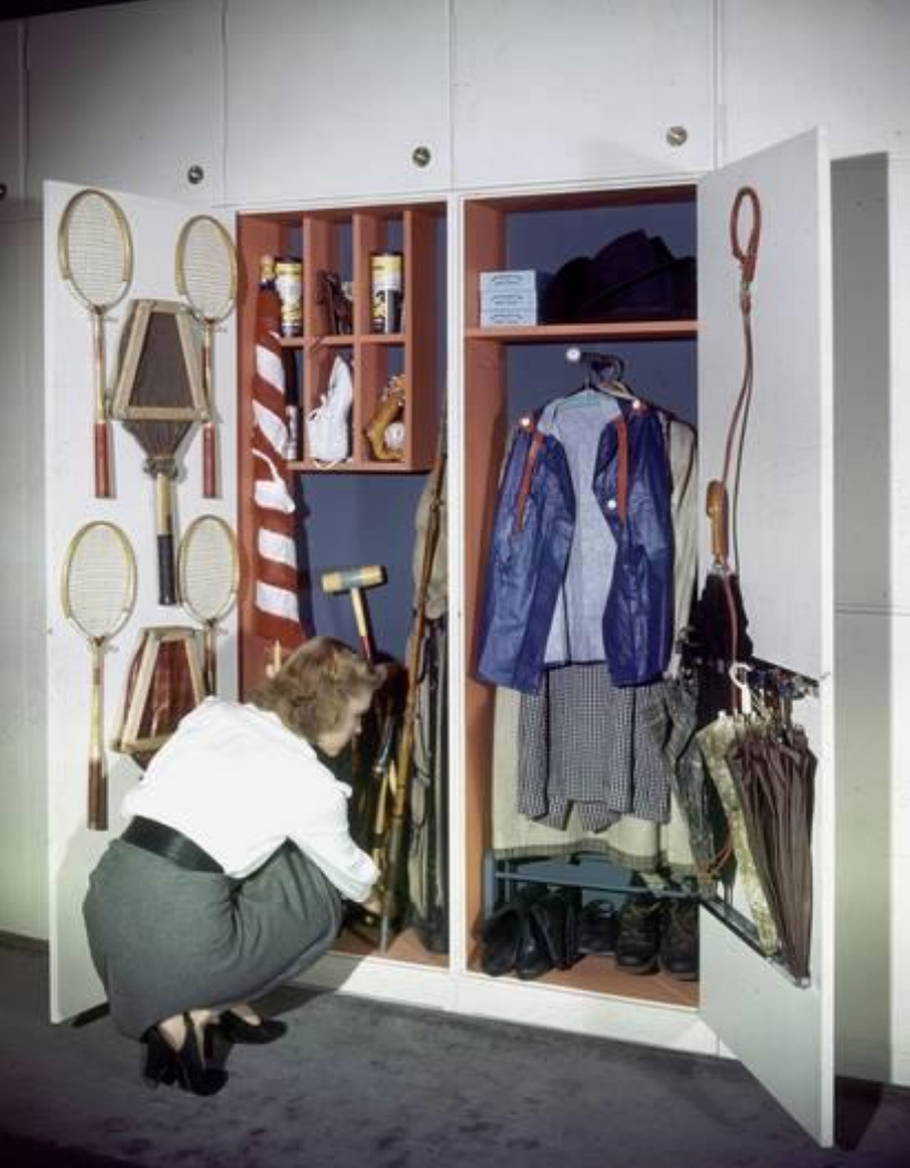 Specialized Closets Created by Architects George Nelson and Henry Wright, New York, 1945