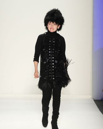 Joanna Mastroianni at her fall 2012 show.