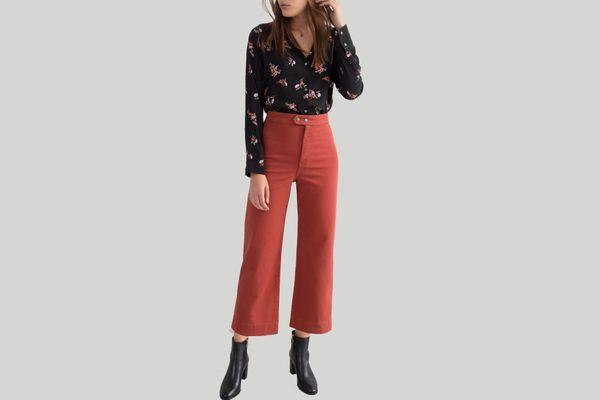 Twill Culotte Pants