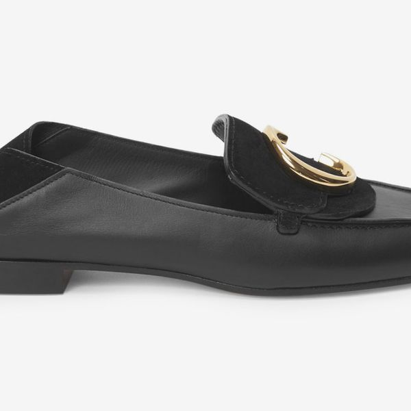 Chloé C Leather & Nubuck Loafers