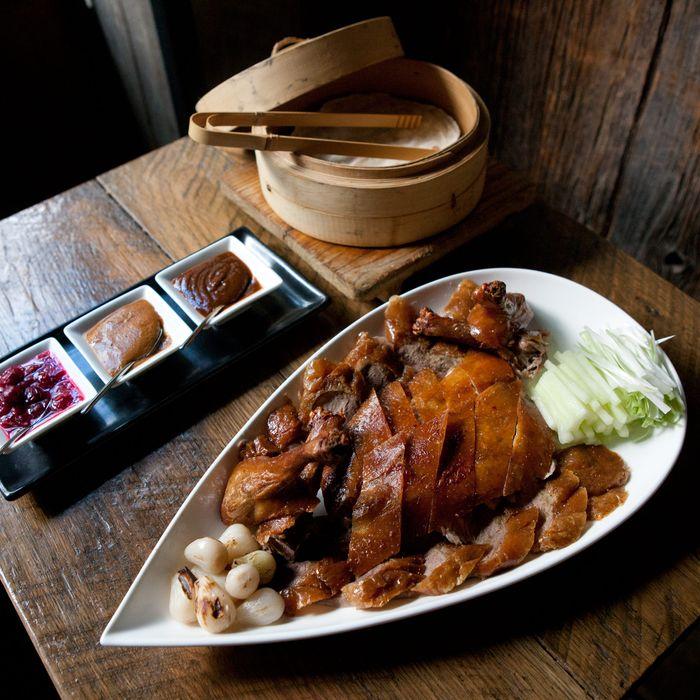 The Peking duck dinner.