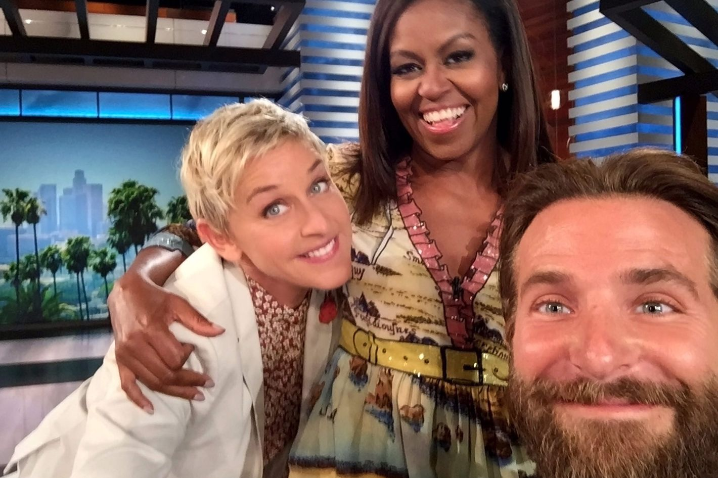 Ellen Welcomes Michelle Obama, and Bradley Cooper's Wardrobe Malfunction