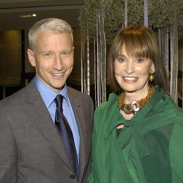 Anderson Cooper and Gloria Vanderbilt.