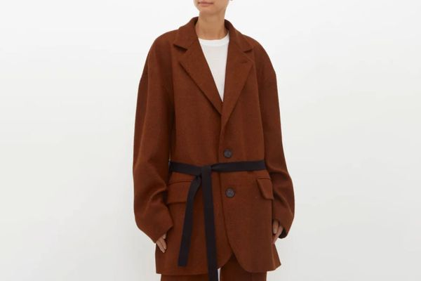Raey Oversized Single-Breasted Wool Harris-Tweed Blazer