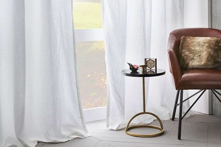 West Elm linen curtains