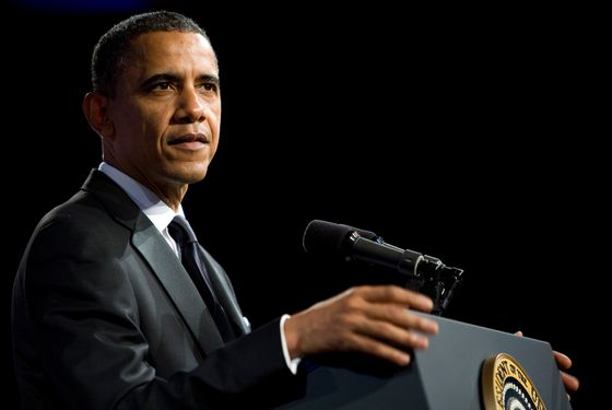 WASHINGTON, DC - MAY 8:  U.S. President Barack Obama delivers a keynote address during the 18th Annual Asian Pacific American Institute for Congressional Studies Gala Dinner on May 8, 2012 in Washington, D.C. APAIC is a non-profit group that works to develop Asian American leaders and politicians.  (Photo by Kristoffer Tripplaar-Pool/Getty Images)