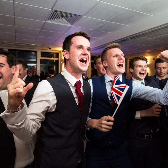 Vote Leave Party As They Wait For The EU Referendum Results