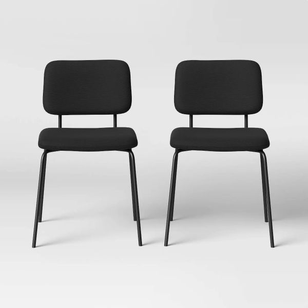 Target Room Essentials 2-Pack Square Back Upholstered Dining Chairs