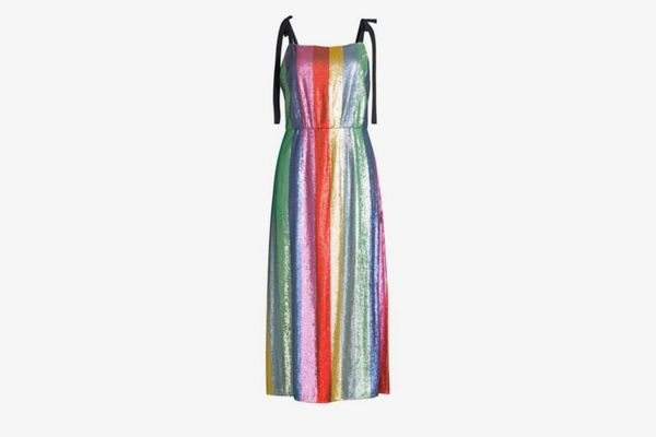 Rixo Tessa Sequin Stripe Dress