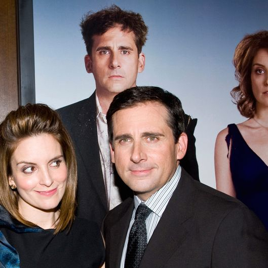 "Tina Fey and Steve Carell attend the ""Date Night"" New York premiere at the Ziegfeld Theater in New York City."