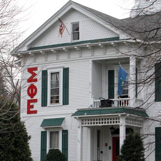 The Sigma Phi Epsilon fraternity at the University of Vermont is seen Wednesday, Dec. 14, 2011 in Burlington, Vt.