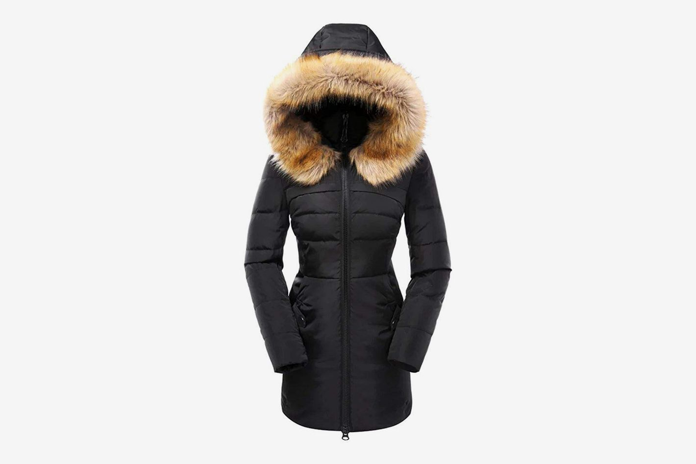 de34fe5ef2dc Beinia Valuker Women's Down Coat with Fur Hood