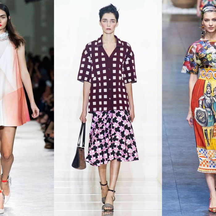 From left: Missoni, Marni, and Dolce & Gabbana.
