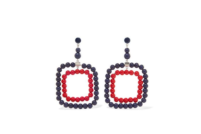 MARNI Silver-tone beaded earrings