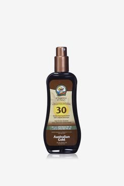 Australian Gold Spray Gel Sunscreen with Instant Bronzer
