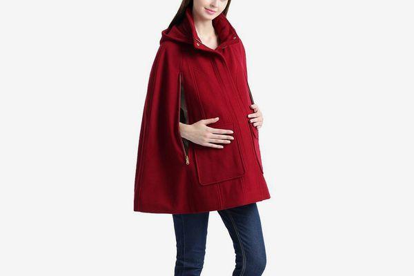 "Kimi + Kai Maternity ""Robin"" Wool Blend Cape"