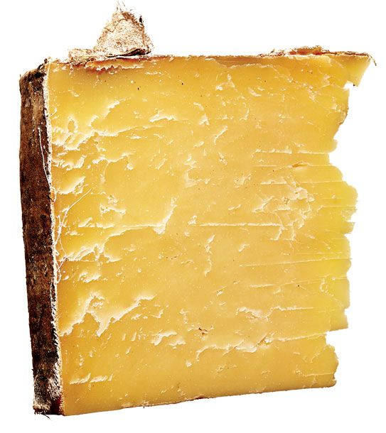 "<b>Beecher's Flagsheep</b>    <i>Beecher's Handmade Cheese (Washington)</i>    A mixed-milk riff on the creamery's signature all-cow Flagship. It's made like a traditional clothbound Cheddar, but with two-thirds cow's milk and one-third sheep's, and starter cultures more commonly used in Swiss cheeses. The harmonious result is rich and chewy, with a touch of sheepy sweetness and little of aged Cheddar's characteristic tang.<i> $32 a pound at <a href=""http://nymag.com/listings/restaurant/beechers-the-cellar/"">Beecher's Handmade Cheese</a>.</i>"