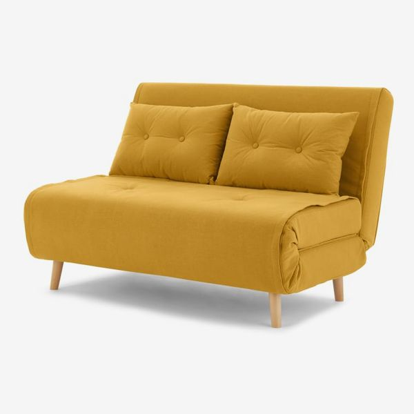 Haru Small Sofa bed, Butter Yellow