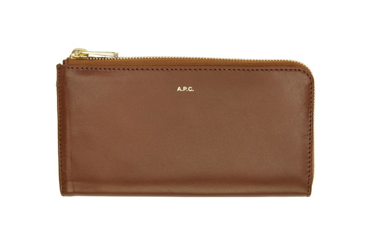 A.P.C.  Brown Long Continental Wallet