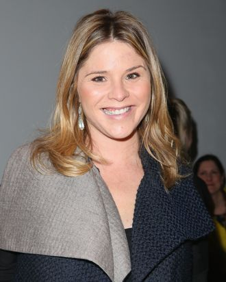 NEW YORK, NY - FEBRUARY 10: Jenna Bush attends the Lela Rose Fall 2013 fashion show during Mercedes-Benz Fashion Week at The Studio at Lincoln Center on February 10, 2013 in New York City. (Photo by Chelsea Lauren/Getty Images for Mercedes-Benz Fashion Week)