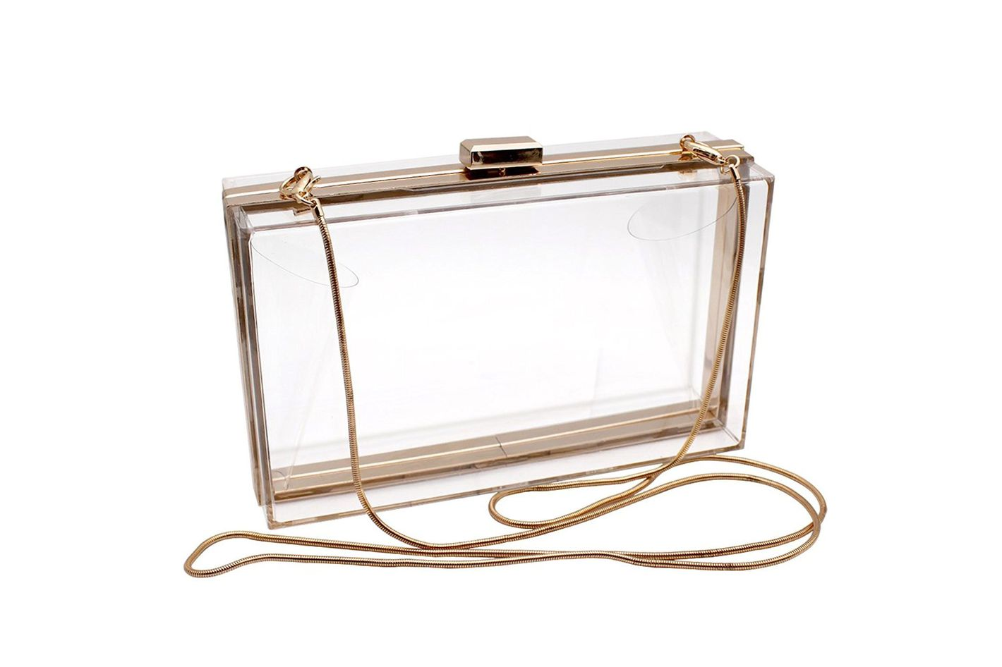 HQdeal Luxury Acrylic Fashionable Transparent Evening Clutch