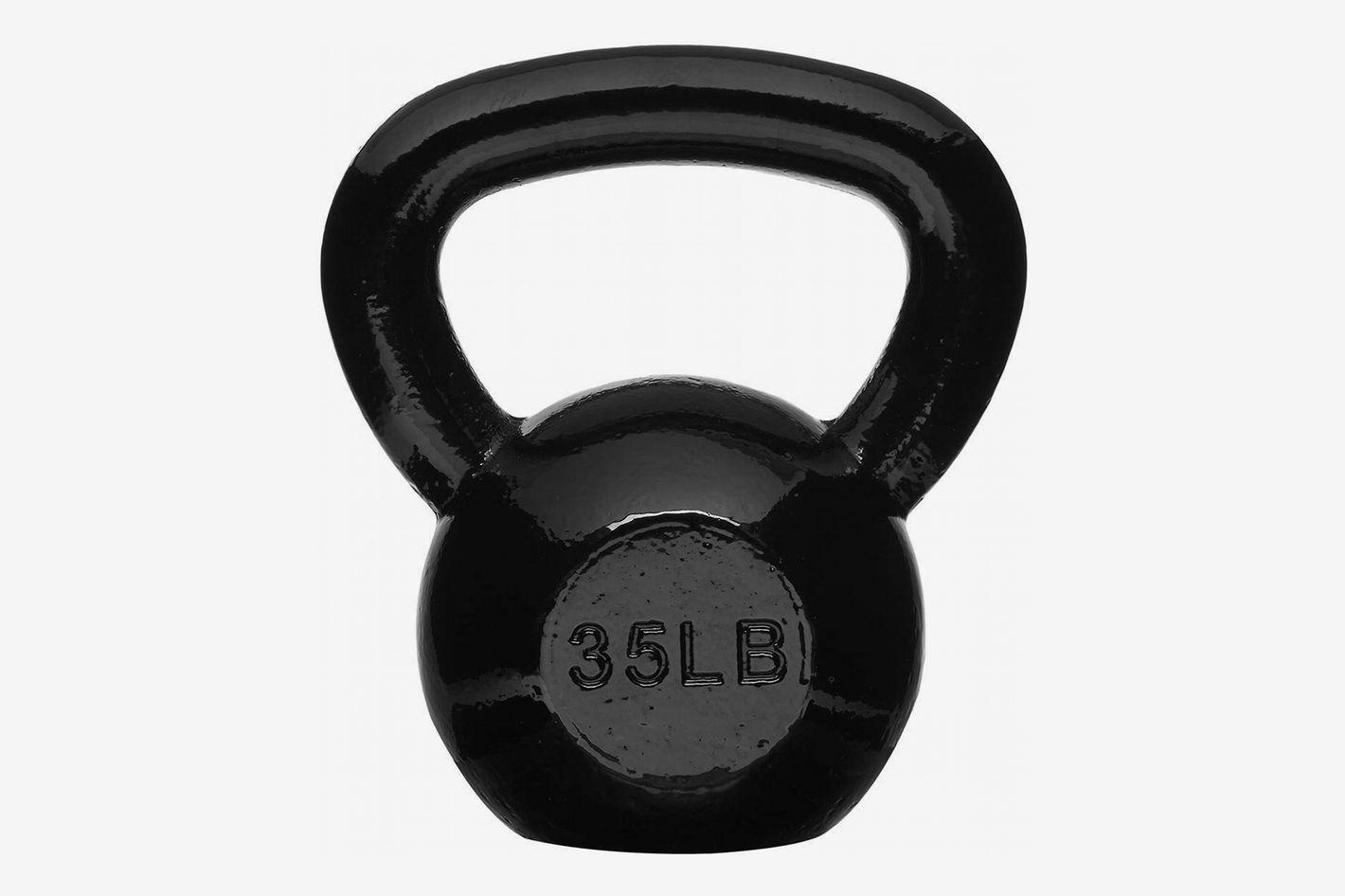 AmazonBasics Enamel Kettlebell (35 Pounds)